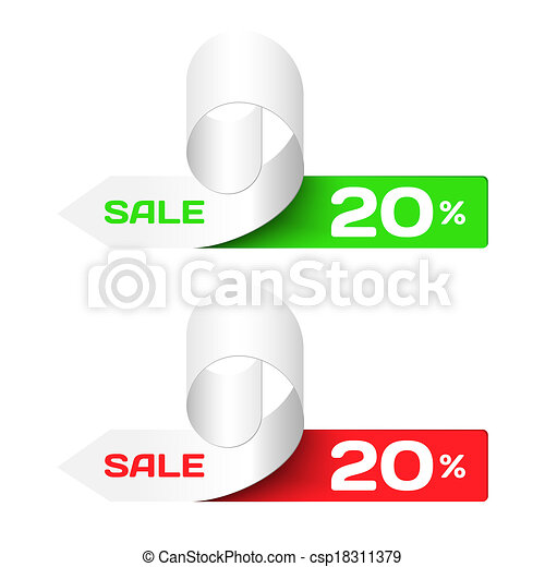 Discount labels. Set of Colorful  Sample stickers - csp18311379