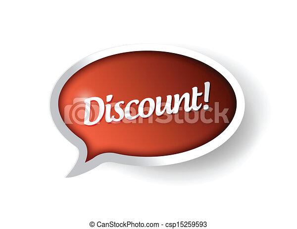 discount message communication bubble - csp15259593