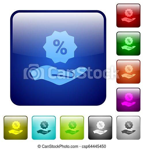 Discount services color square buttons - csp64445450