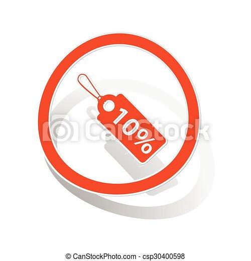 Discount sign sticker, orange - csp30400598