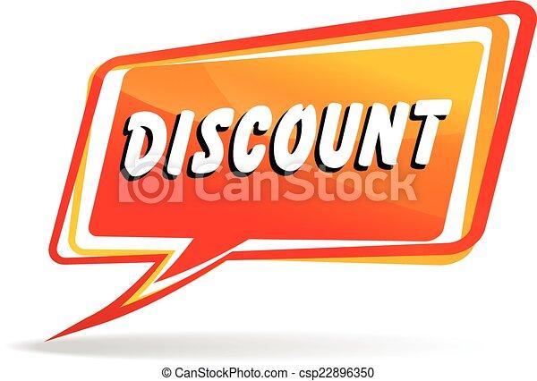 discount speech - csp22896350