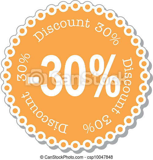 Discount thirty percent - csp10047848