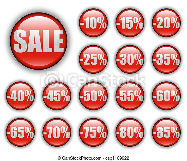 discount web buttons - csp1109922