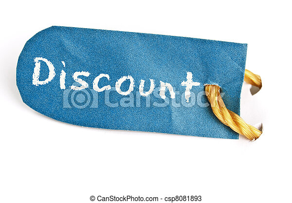 Discount word on label - csp8081893