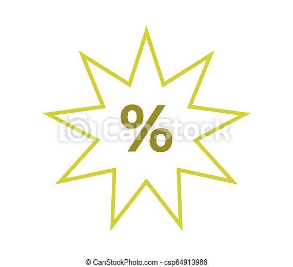 discounts icon on white background - csp64913986