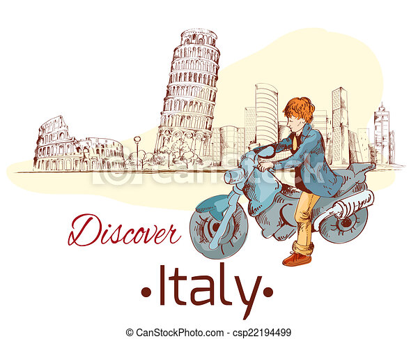 Discover Italy poster - csp22194499
