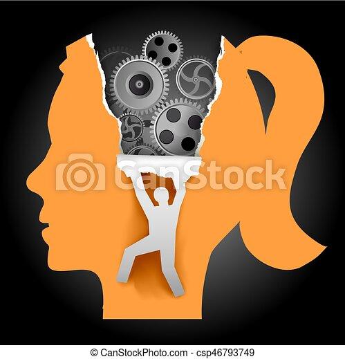 Discover Woman Psychology - csp46793749