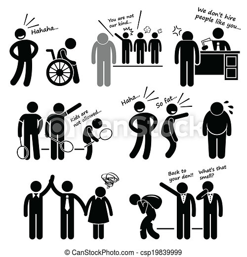 Discrimination Racist Cliparts - csp19839999