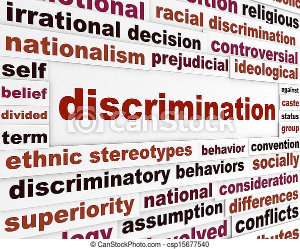 Discrimination social issue concept - csp15677540