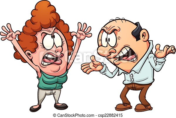 Una pareja discutiendo - csp22882415