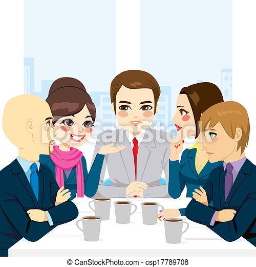 discussion affaires, équipe - csp17789708