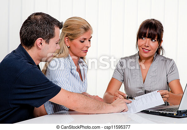 discussion at a consultation - csp11595377