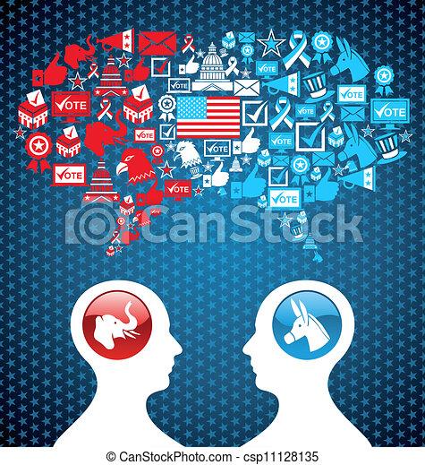 discussion, politique, élections, usa, social - csp11128135