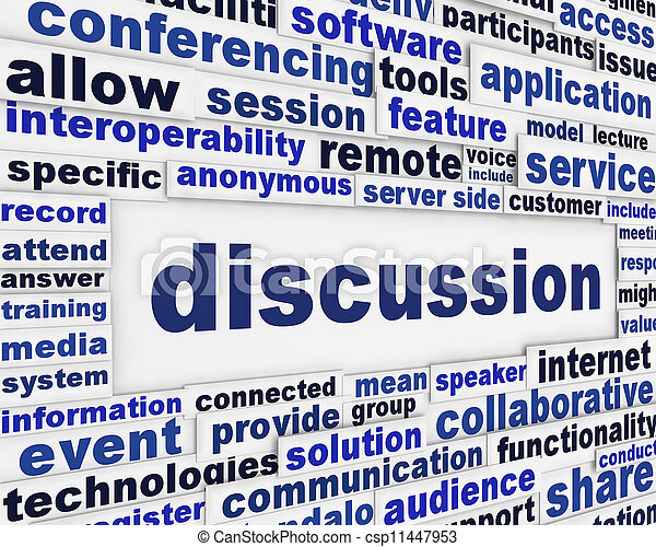 Discussion poster design - csp11447953