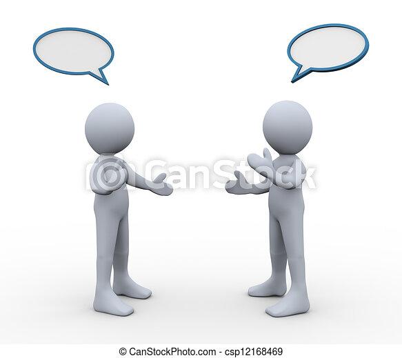 discussione, 3d, persone - csp12168469