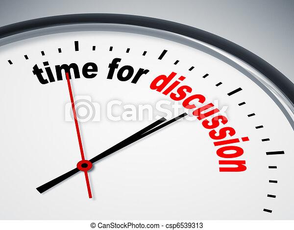 discussione, tempo - csp6539313