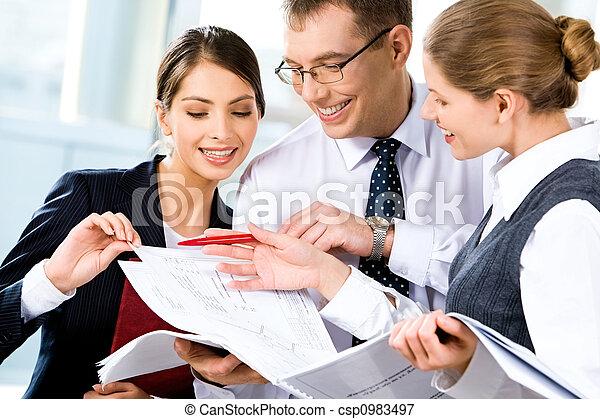 discutere, piano, affari - csp0983497