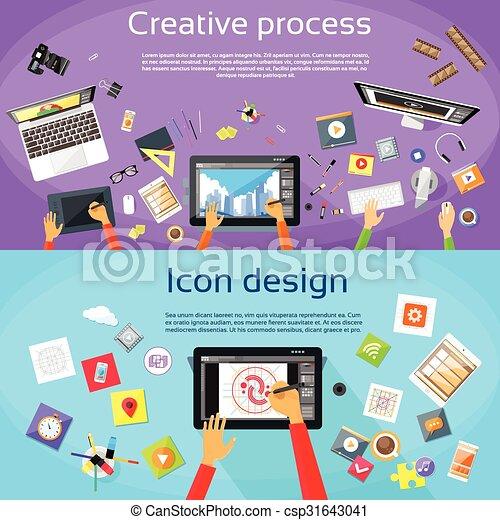 Diseño de tabletas profesionales de diseño de logo digital - csp31643041