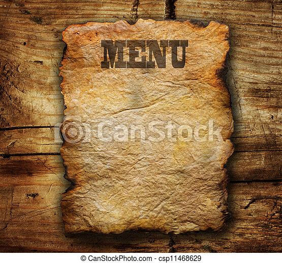 Diseño de menú. Viejo estilo - csp11468629