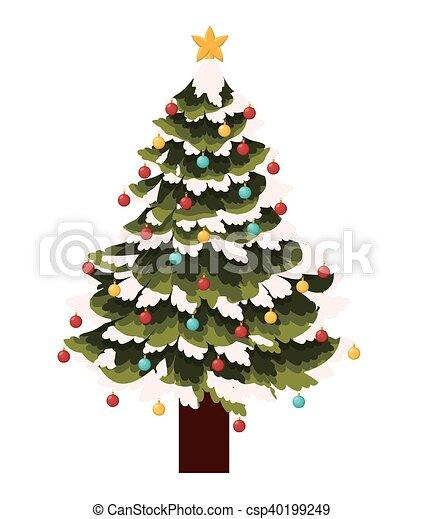 Diseño, árbol, alegre, pino, navidad. Figura, estación,... vector ...