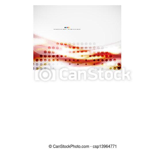 Ola el diseño abstracto - csp13964771