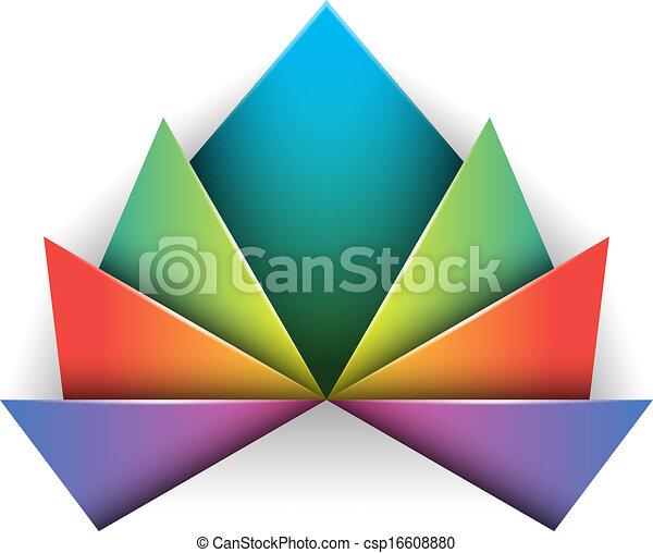 Un símbolo de diseño abstracto - csp16608880