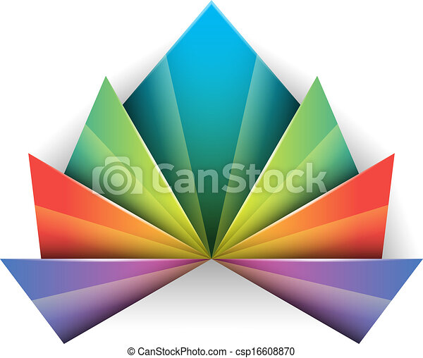 Un símbolo de diseño abstracto - csp16608870
