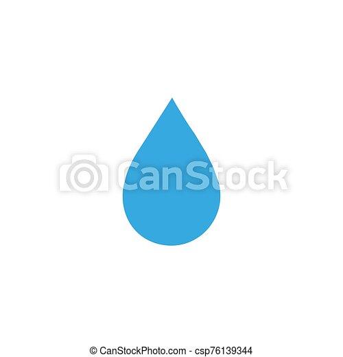 diseño, agua, icono, vector, símbolo - csp76139344