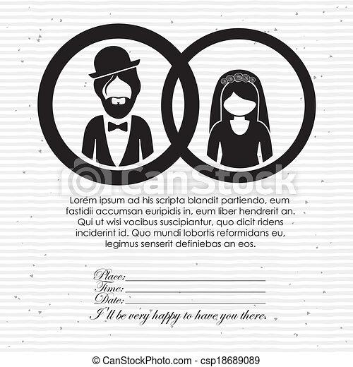 Diseño de bodas - csp18689089