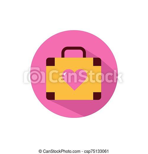 diseño, bolsa, vector, amor, aislado - csp75133061
