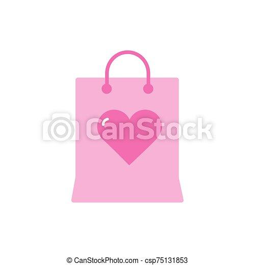diseño, bolsa, vector, amor, aislado - csp75131853