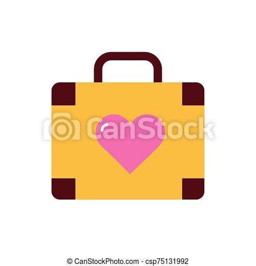 diseño, bolsa, vector, amor, aislado - csp75131992