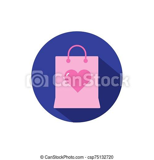 diseño, bolsa, vector, amor, aislado - csp75132720