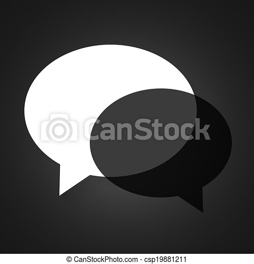Diseño creativo de fondo de burbujas de habla - csp19881211