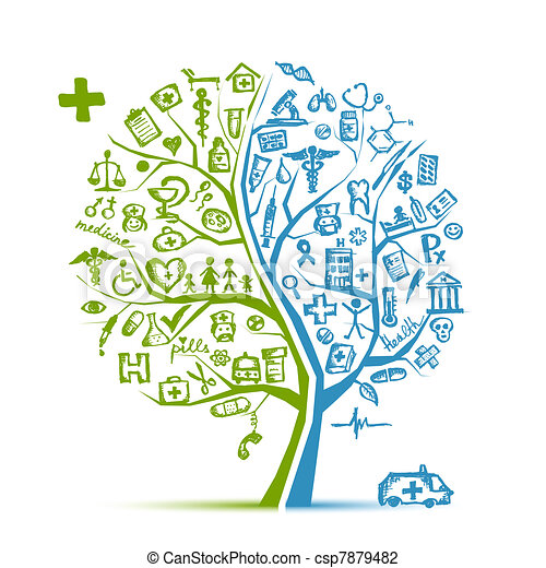 El concepto de árbol médico para tu diseño - csp7879482