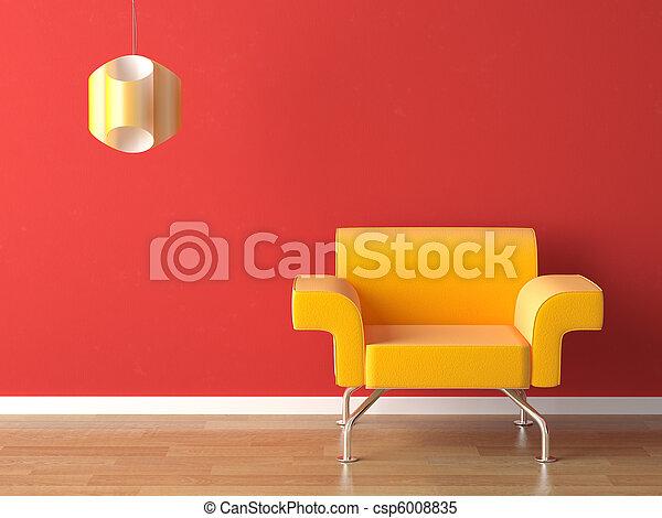 Diseño amarillo en rojo - csp6008835