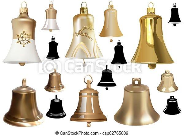 Campanas como elementos de diseño navideño - csp62765009