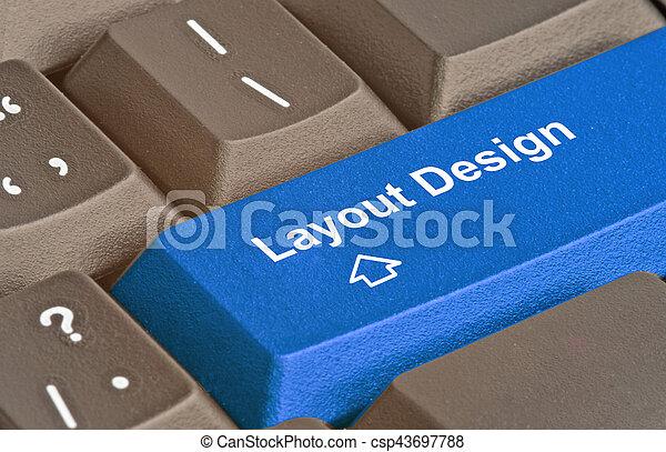 Teclado con llave para diseño de diseño - csp43697788