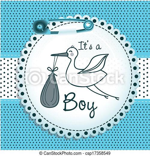 Diseño de baby shower - csp17358549
