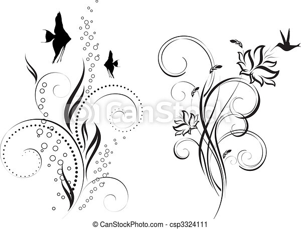 Diseño floral - csp3324111