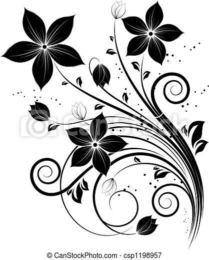 diseño floral, elemento - csp1198957