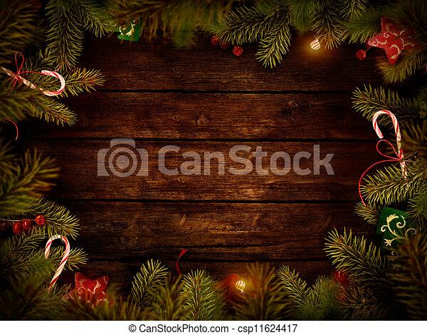 Diseño de Navidad: corona de Navidad - csp11624417