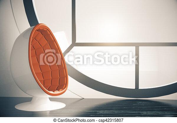Diseño de habitaciones futuristas - csp42315807