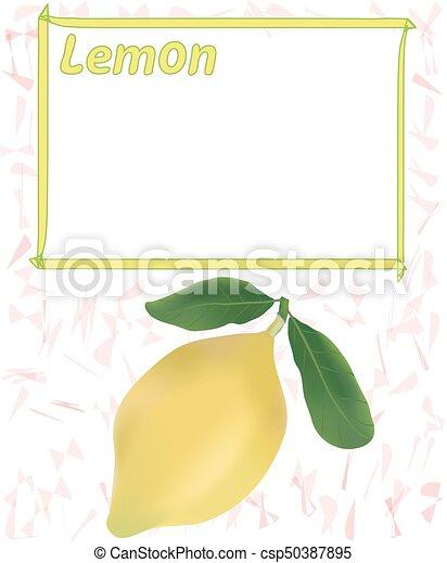 Diseño, marco, limón, precio, etiqueta.