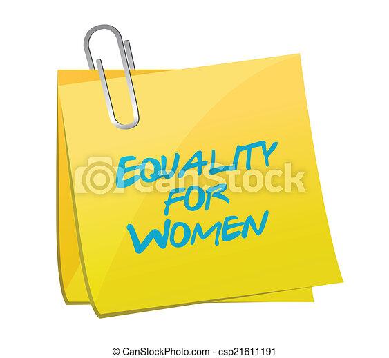 Igualdad para el diseño de ilustraciones de mujeres - csp21611191
