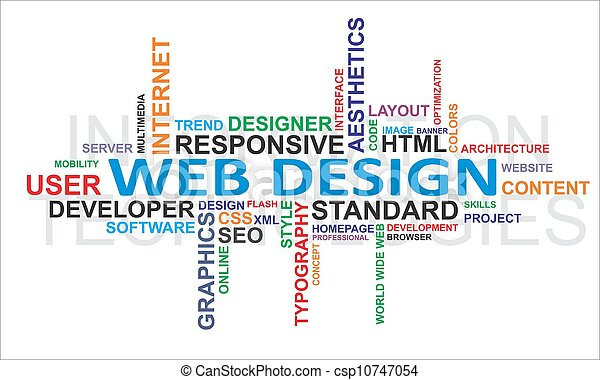 diseño, -, nube, palabra, tela - csp10747054