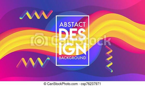 diseño, plano de fondo, resumen, mezcla, plantilla - csp76237971