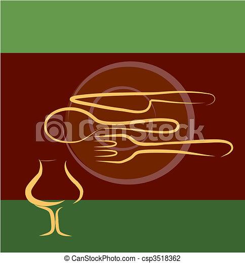 Planta de diseño de restaurantes - csp3518362