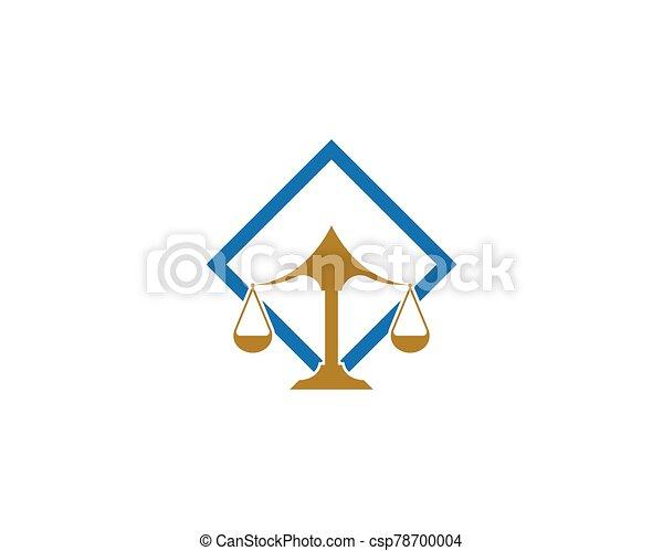 diseño, vector, firma, icono, ley, logotipo, justicia - csp78700004