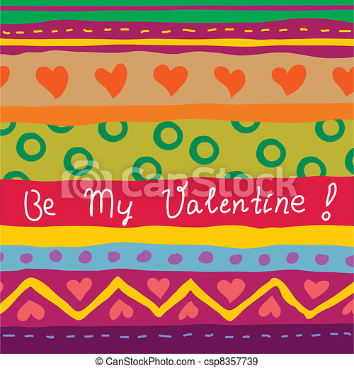 disegnato, mano, scheda, valentina - csp8357739
